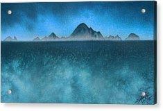 Farallon Islands II Or The Misty Isle Acrylic Print by Robin Street-Morris
