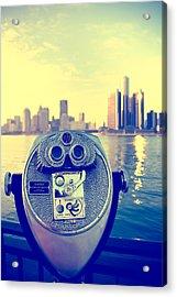 Faraway Detroit Acrylic Print by Andreas Freund