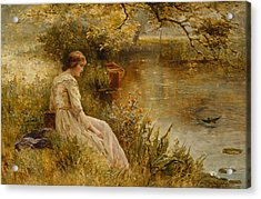 Faraway Thoughts Acrylic Print by Ernest Walbourn