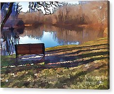 Acrylic Print featuring the photograph Farewell Fishing by Betsy Zimmerli