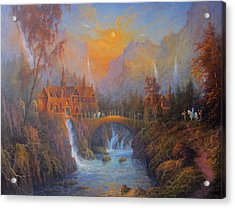 Farewell To Rivendell The Passing Of The Elves Acrylic Print by Joe  Gilronan