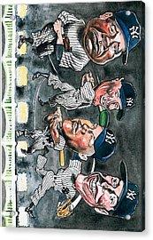 Farewell Yankee Stadium Acrylic Print by Robert  Myers