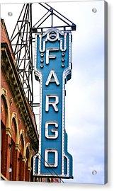 Fargo Blue Theater Sign Acrylic Print