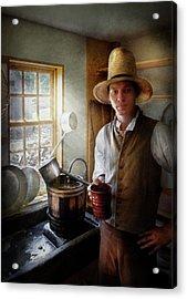 Farm - Farmer - The Farmer Acrylic Print by Mike Savad