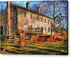 Farm - Farmer - There Was An Old Lady Acrylic Print by Mike Savad