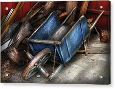 Farm - Tool - One Used Wheelbarrow Acrylic Print