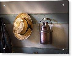 Farm - Tool - The Coat Rack Acrylic Print by Mike Savad