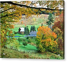 Farm And Fence Vermont Acrylic Print