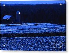 Farm At Christmas Acrylic Print by Timothy Johnson