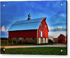 Farm At Sunset - Iowa Acrylic Print