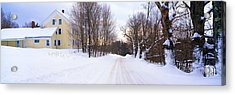 Farm Covered In Snow, Darling Hill Acrylic Print by Panoramic Images