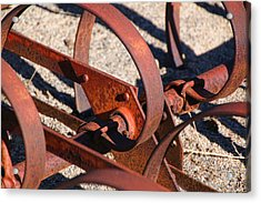 Acrylic Print featuring the photograph Farm Equipment 4 by Ely Arsha
