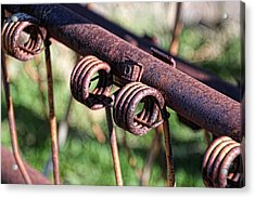 Acrylic Print featuring the photograph Farm Equipment 6 by Ely Arsha