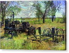 Farm Equipment Acrylic Print