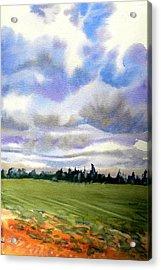 Farm  Field P.e.i. Acrylic Print by Patricia Bigelow