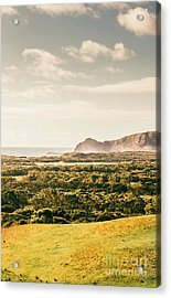 Farm Fields To Seaside Shores Acrylic Print