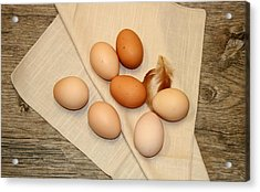 Farm Fresh Eggs Acrylic Print