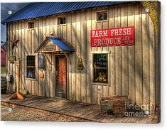 Farm Fresh Produce Acrylic Print by Mel Steinhauer