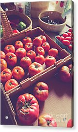 Farm Fresh Tomatoes At A Farm Stand Acrylic Print
