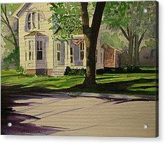 Farm House In The City Acrylic Print by Walt Maes
