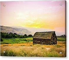 Twilight At The Okanagan Farm House Canada Acrylic Print