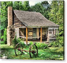 Farm House Acrylic Print by Steven Richardson