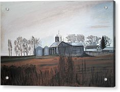 Farm In The Fall Acrylic Print by Keith Bagg
