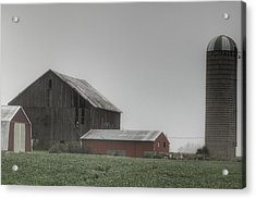 0011 - Farm In The Fog II Acrylic Print