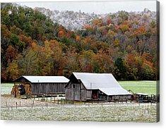 Farm In The Smokies Acrylic Print by Michael Eingle