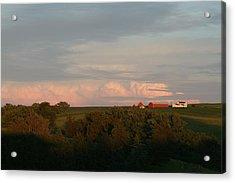 Farm Acrylic Print by Linda Ostby