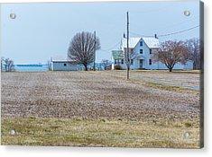 Farm On The Bay Acrylic Print