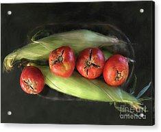 Acrylic Print featuring the digital art Farm Produce by Lois Bryan