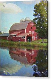 Farm Reflection Acrylic Print by JAMART Photography