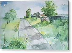 Farm Road Acrylic Print by Christine Lathrop