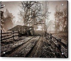 Farm Road Late Autumnl. Acrylic Print
