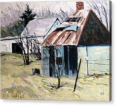 Farm Sale Acrylic Print by Charlie Spear
