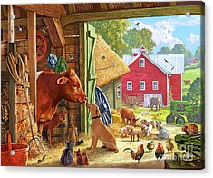 Farm Scene In America Acrylic Print