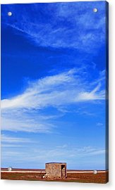 Farm Shed Under Texas Sky 1 Acrylic Print by James Granberry