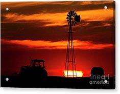 Acrylic Print featuring the photograph Farm Silhouettes by Brad Allen Fine Art
