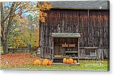Farm Stand Etna New Hampshire Acrylic Print by Edward Fielding