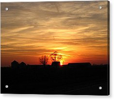 Acrylic Print featuring the photograph Farm Sunset by Jack G  Brauer