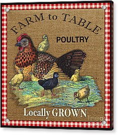 Farm To Table-jp2388 Acrylic Print by Jean Plout
