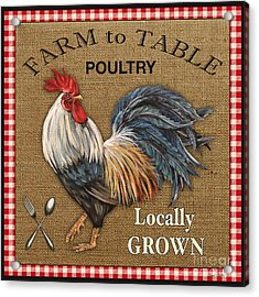 Farm To Table-jp2390 Acrylic Print by Jean Plout