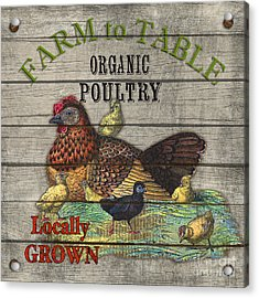 Farm To Table Poultry-jp2630 Acrylic Print by Jean Plout
