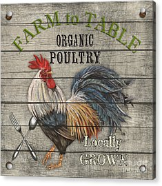Farm To Table Rooster-jp2628 Acrylic Print by Jean Plout