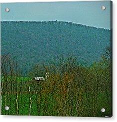 Farm Tucked Mountaintop  Acrylic Print by Debra     Vatalaro