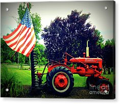 Farmall And Flag Acrylic Print
