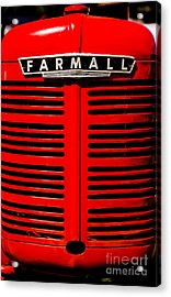 Farmall Grill Acrylic Print by Sherman Perry