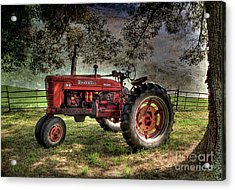 Farmall In The Field Acrylic Print by Michael Eingle