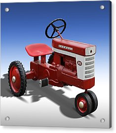 Farmall Peddle Tracter Acrylic Print by Mike McGlothlen